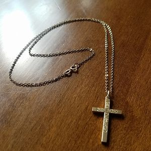 12k gold chain and cross